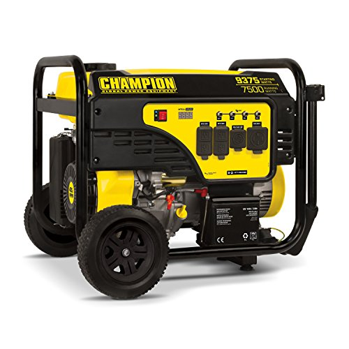 Champion Power Equipment 100538 7500-Watt Portable Generator, Black/Yellow