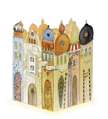 Leuchtendes Städtchen - Adventskalender: Schöner Kalender zum Aufstellen und beleuchten von Innen. 38 x 27 cm.