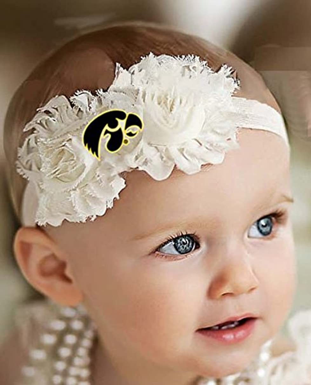 Future Tailgater Iowa Hawkeyes Baby/Toddler Shabby Flower Hair Bow Headband