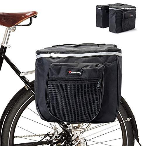 geneic Double Pannier Bags for Bike,Bike Luggage Rack Bag Bicycle Pannier Bag Waterproof Bike Rear Rack Bag Bike Seat Pannier Cycling Rear Carrier Bag Road Bike Storage Bag