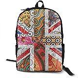 Mochila casual de gran capacidad, antirrobo, multiusos, para gimnasio, trabajo, bicicleta, bandera de Reino Unido, diseño de mandala, regalo de estudiantes, viajes, senderismo, mochila