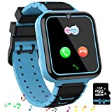 Jsbaby Kids Game Smart Watch Sim Card Children for Girls and Boys 3-8 Birthday Phone Watches Music