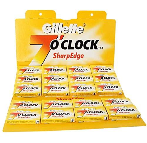 P&G Gillette 7 O Clock Yellow Pack de 100 Rasoir Lames