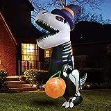 Joiedomi Halloween 8 FT Inflatable Skeleton Dinosaur...
