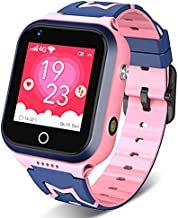 Kids Smartwatch 4G, GPS Tracker Watch Waterproof for Boys Girls, Kids Phone with Facetalk/2-way Call/Pedometer/Math Game/SOS, Best Birthday Gift for Child(Pink-M60)
