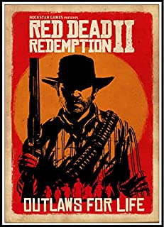 GANGPAO Red Dead Redemption 2 Poster sur toile personnalisable