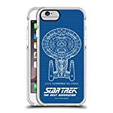 Official Star Trek USS Enterprise NCC-1701-D Ships of The Line TNG White Shockproof Gel Bumper Case for iPhone 6 / iPhone 6s