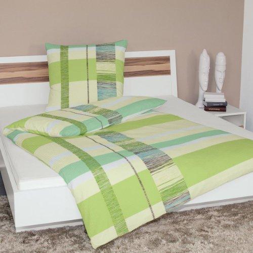 Janine Design Soft-Seersucker Bettwäsche 2377-06 1 Bettbezug 155 x 220 cm + 1 Kissenbezug 80 x 80 cm
