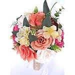 Lemoning Home Decor for Living Room, Artificial Silk Fake Flowers Dandelion Floral Wedding Bouquet Hydrangea Decor