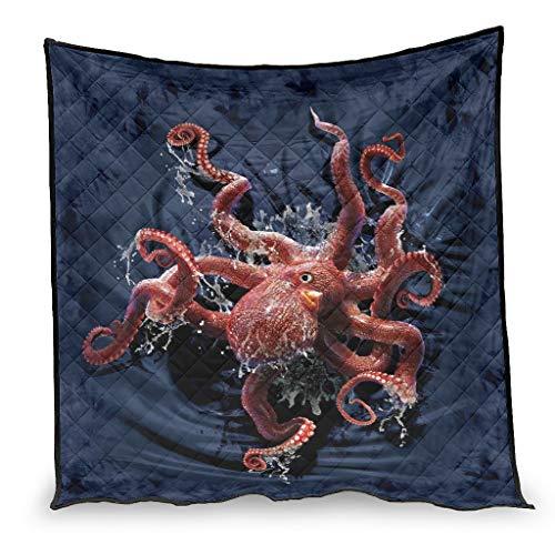 OwlOwlfan Octopus - Edredón de verano supersuave, ligero, cómodo, para primavera, verano, otoño, temporada blanca, 100 x 150 cm