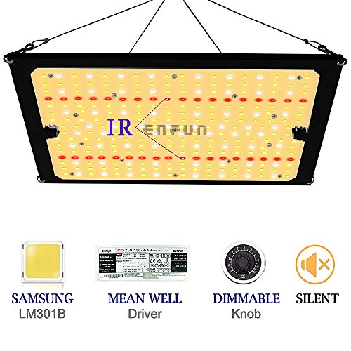 Plant Growing Lamps to Cover a 3x3.5 ft Flowering Space by MAXSISUN High PPFD Rating Sunlike Full Spectrum LED Grow Lights for Indoor Plants Veg and Bloom MAXSISUN 2020 Latest QB Style PB 2000 LED Grow Light
