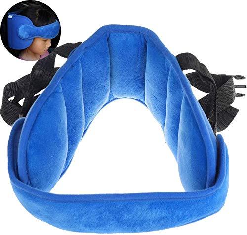 Annhao Reposacabezas Soporte Cabeza Sujeta Coche para Niños Infantil Bebe Seguridad Cinturón de Sujeción Correa Ajustable para Asiento de Coche Cómoda Posicionador Cabeza, Alivio del Cuello, Azul