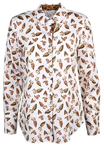 Just White Damen Bluse Größe 38 EU Weiß (weiß)