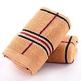 DZSLTC Set di Quattro Asciugamani in Cotone Jacquard Gli Asciugamani Sono Morbidi e Comodi al Tatto e Realizzati per Il Massimo Comfort assorbenza e Durata @ Brown_73 * 33cm