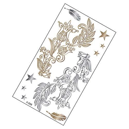 10 pièces de métal autocollants de tatouage rétro style européen et américain bracelet autocollants 150 * 85mm X-006