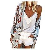 WOCACHI Womens Kimono Cardigan, Boho Printed Sunscreen Half Sleeve Loose Sheer Chiffon Cover Up 2020 Prime Summer Under 25 Dollars New Deals Sales Bargains