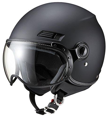 マルシン(MARUSHIN) バイクヘルメット ジェット SAFIT MS-340 マットブラック Lサイズ (59-60cm) MS340MBK/L