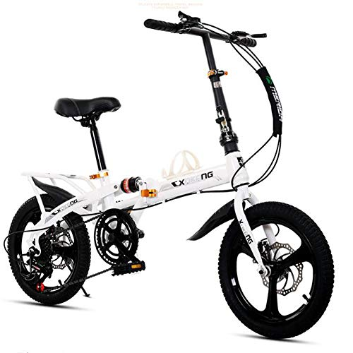 WPY Micro Bike 20Pulgadas, Bicicleta (Plegado, Acero Carbono), Unisex Adulto, Blanco