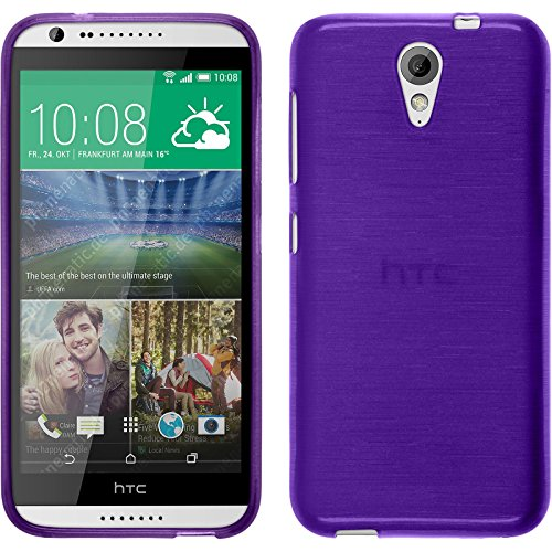 PhoneNatic Funda de Silicona Compatible con HTC Desire 620 - Brushed púrpura -...