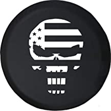 Spare Tire Cover American Patriot Flag Military Skull fits SUV or Camper RV Accessories 33 Inch