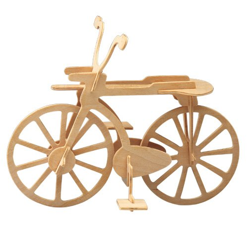 Etna Iława Fahrrad 3D Holzbausatz Fahrzeug Bike Rad Rennrad Bausatz Holz Steckpuzzle Holzpuzzle P012