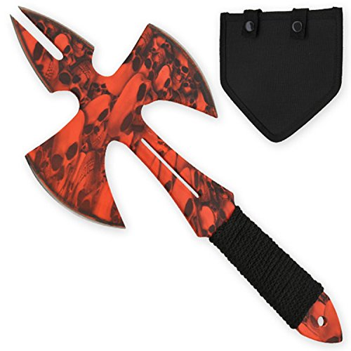 TIGER-USA Medieval Style Throwing Axe Black Throwing Axe - Comes with Wearable Sheath