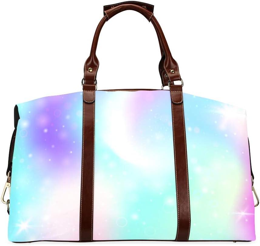 Duffel Luggage Bag Beautiful Rainbow Gradient Classic Ranking TOP20 Oversized Super intense SALE