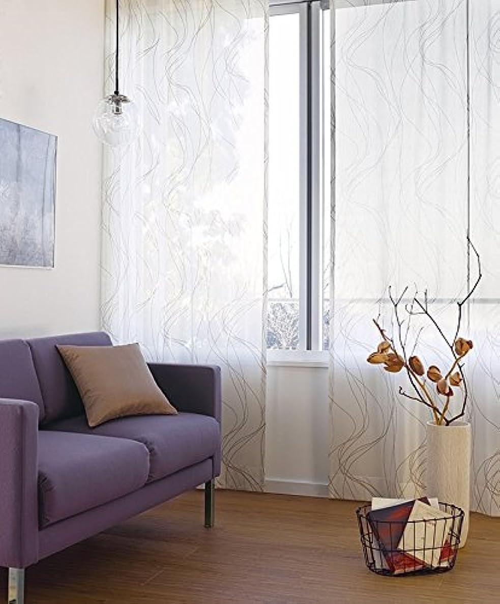 解釈カップル同僚東リ 2色のカラーで表現した大胆な線描き フラットカーテン1.3倍ヒダ KSA60468 幅:150cm ×丈:250cm (2枚組)オーダーカーテン