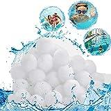 SunAurora 700g Bolas del Filtros,Bolas Filtrantes de Piscina,Filter Balls Reutilizable Alternative para 25kg Filtro de Arena (700g)