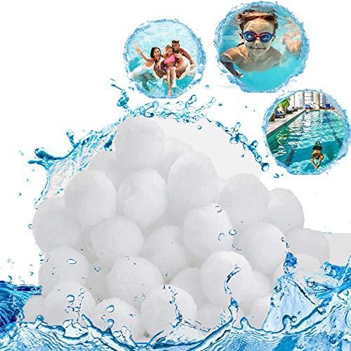 SunAurora 500g Filtro Balls,Palline Filtranti per Piscina,Sfere per Filtrazione Sostituire 18kg di Sabbia Filtrante,Filtri Balls per Piscine, Pompe Filtranti e Acquari (500g)