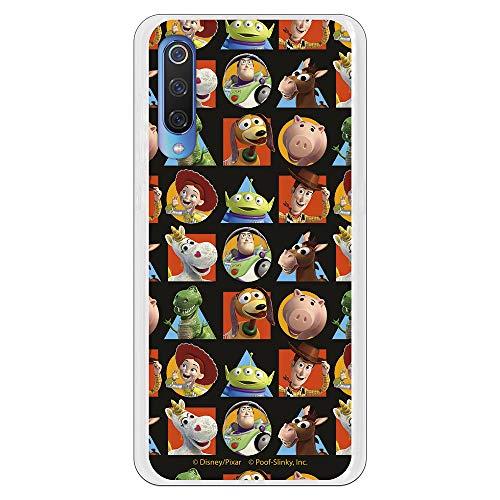 Funda para Xiaomi Mi 9 Oficial de Toy Story Muñecos Toy Story Siluetas Geométricas para Proteger tu móvil. Carcasa para Xiaomi de Silicona Flexible con Licencia Oficial de Disney.