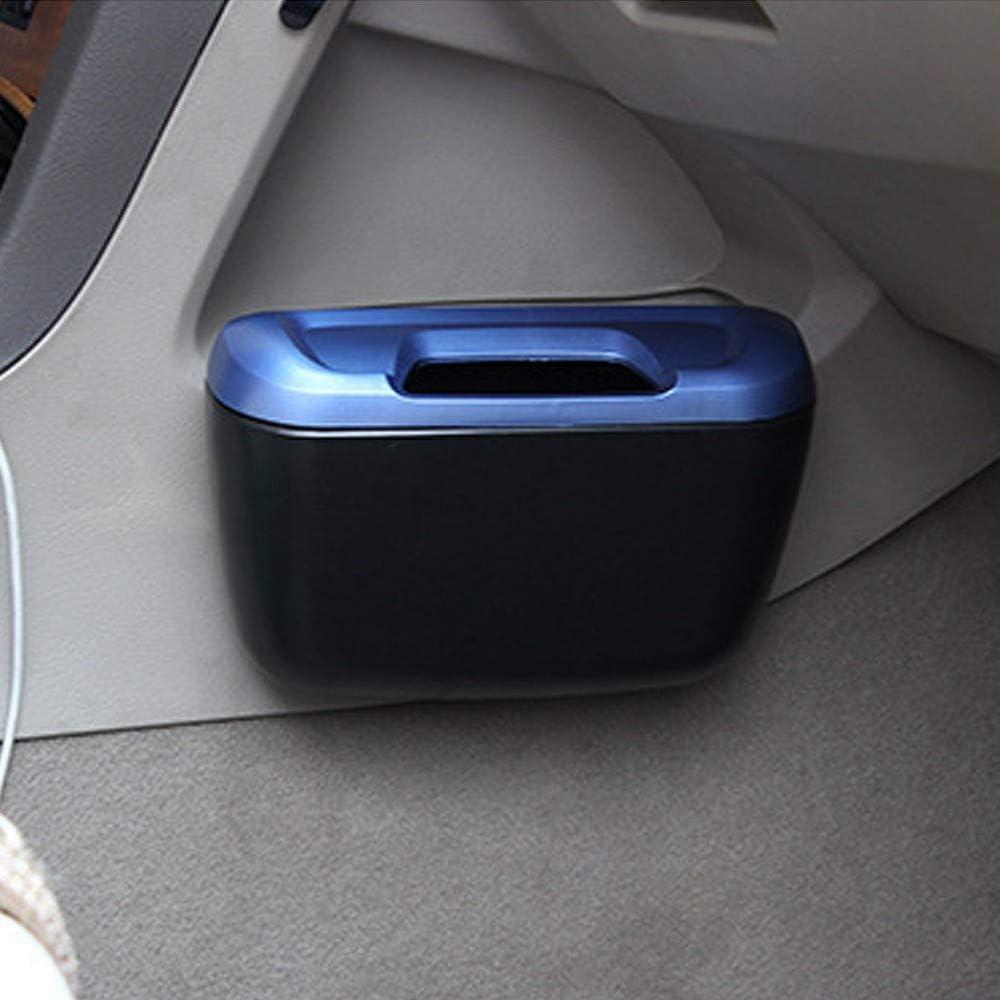 Colorful Abfalleimer Für Kfz Reisen Portable Mini Auto Mülleimer Best Auto Müll Müll Kann Für Müll Hängen Recycle Mülleimer Halter Auto Van Mülleimer Blau Garten