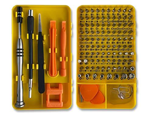 JUEGO DE DESTORNILLADORES DE PRECISIÓN 110 EN 1 CON MAGNETIZADOR, herramientas de reparación de electricista bricolaje profesional para movil, iphone, tablet, reloj, ordenador PC, laptops