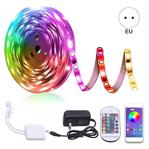 5M LED Strip Lights, SMD 5050 150LED's Light Strip Kits met infrarood 24 Key, geschikt voor kamer, TV, plafond, kast Bar Home Decoration