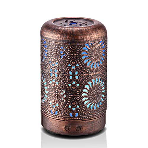 Ominihome Essential Oil Diffuser, 100ML Aromatherapy Diffuser With Waterless Auto Shut-Off Function,...