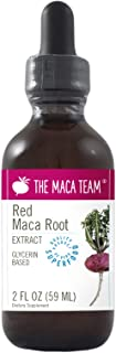 The Maca Team Red Maca Root Liquid Extract, Glycerin Based – Organic, Vegan, GMO-Free and Alcohol-Free, 2 Fl Oz., 59 ml
