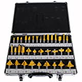 Best Router Bit Sets - Shop4Omni NEW 35 PIECE CARBIDE ROUTER BIT TOOLS Review
