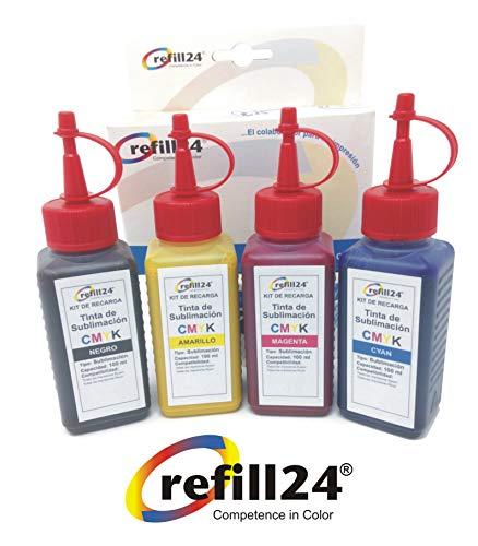 Tinta DE SUBLIMACION EPSON Compatible con impresoras EPSON 400ml Tinta Sublimar Tazas, Alfombrillas, Camisetas, Platos, etc.