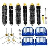 Aero Vac Filter & Bristle Brush & Flexible Beater Brush & 3-Armed Side Brush Pack Replenishment Mega Kit for iRobot Roomba 600 Series (620 630 650 660 680) Vacuum Cleaning Robots