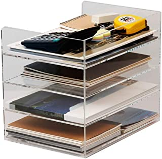 Classeurs Couleur Transparent Couleur Plexiglass Porte-revues Cadre Diviseur De Fichier Cabinets Classeur Présentoir Boîte...