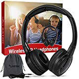 ASTSH IR Headphones 2 Channel Kids Wireless Headphones with Travelling Bag for Universal Rear Entertainment System Kids Headphones for Headrest DVD Players Car Video Devices