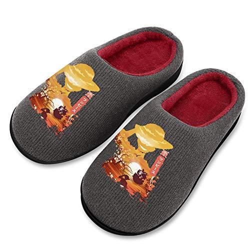 Pillow Socks Pantuflas de algodón para mujer, casuales, de moda, con suela de goma TPR antideslizante, acogedoras y transpirables para niñas 5-6 (5-12 tamaños)