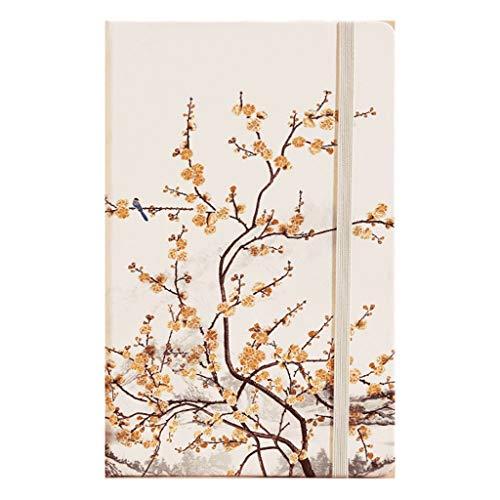 cuadernos de notas Pintura de paisaje del cuaderno A5, rejilla, tapa dura, dura superficie, revistas Diario, Cuenta lado, for muchachas de las mujeres, el trabajo escolar Records blocs de notas