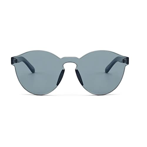 3282f4cf90 Armear Women Men Oversized One Piece Clear Lens Rimless Tinted Sunglasses  58mm