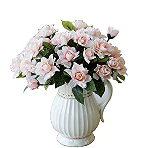 Lopkey Upscale Decor Silk Artificial Gardenia Flower,Pink