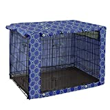 Dog Crate Cover Durable Polyester Pet Kennel Cover Universal Fit for Wire Dog Crate - Fits Most 24' inch Dog Crates - Cover only C542