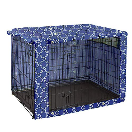 Dog Crate Cover Durable Polyester Pet Kennel Cover Universal Fit for Wire Dog Crate - Fits Most 42