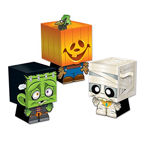 Beistle Goody Ghoulies Favor Boxes, 5 by 3-1/4-Inch, Multicolor