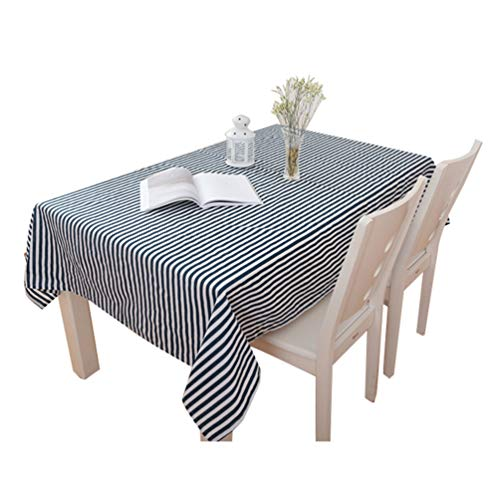 Xingkee Leinenoptik Tischdecke Wasserabweisend Tischwäsche Tischtuch Blau 110 * 110 cm