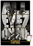 Trends International Tupac - All Eyes Wall Poster, 22.375' x 34', Poster & Mount Bundle
